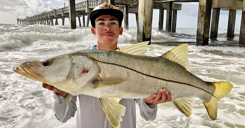 Mateo Burrell aka @mb_snookin went swimming to land this fat snook.