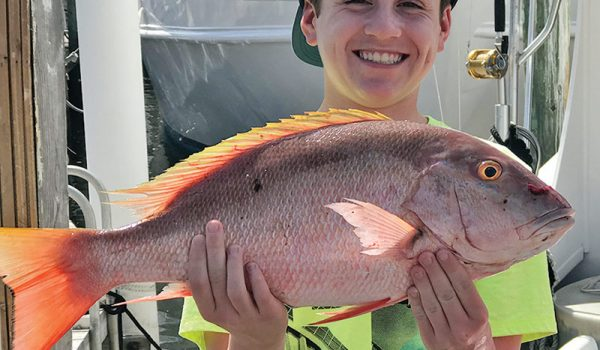 Nice mutton snapper for this young angler.