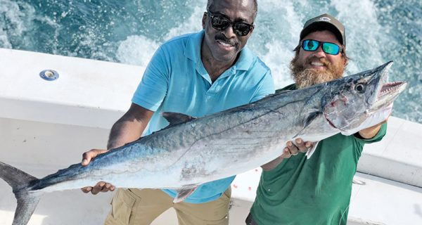 Smoker kingfish caught with New Latitude Sportfishing.