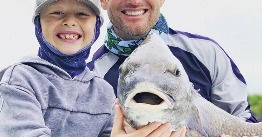 Eight year old Luke Morgan repped the 954 in Flamingo with this black drum caught on a live shrimp.