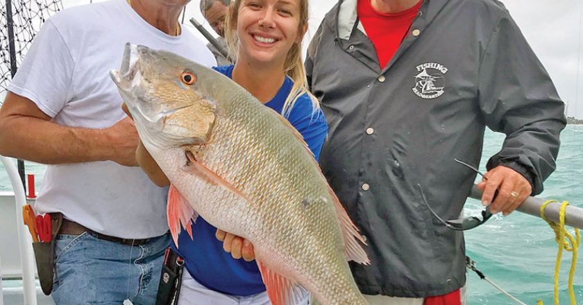 Nice mutton snapper caught on the Catch My Drift.