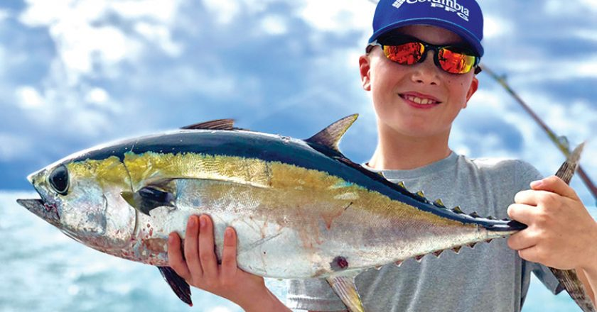 Nice tuna caught by this lucky angler fishing with New Lattitude Sportfishing.