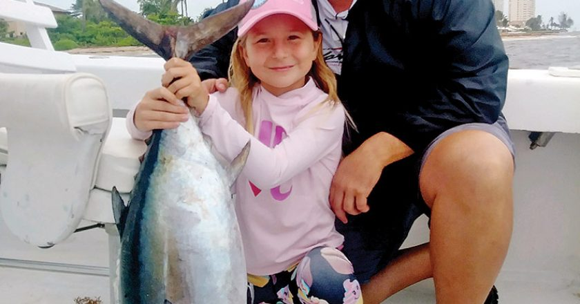 Nice tuna caught by this dad and daughter team fishing with Fishing Headquarters.