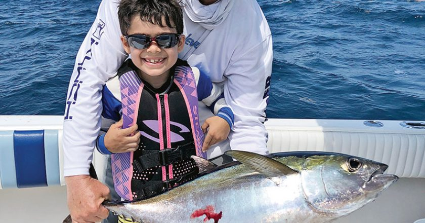 Rafael caught his first blackfin with Capt. Ryan Palmer and it was a stud!