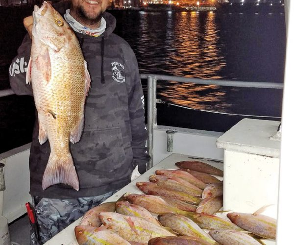 Night trips aboard the Catch My Drift produce some quality snappers!