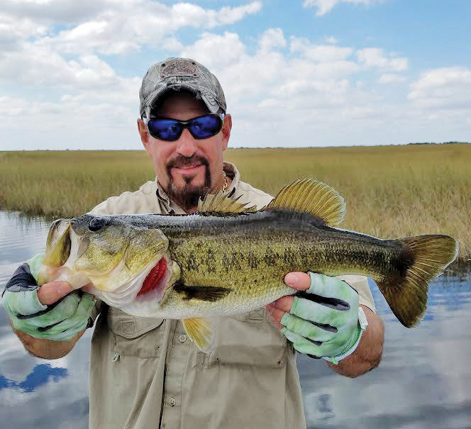 Capt. Neal with a healthy December largemouth.