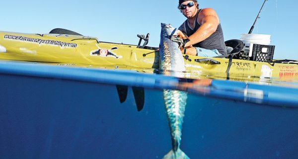 Joe Hector slayed this smoker from his kayak off Pompano Beach.