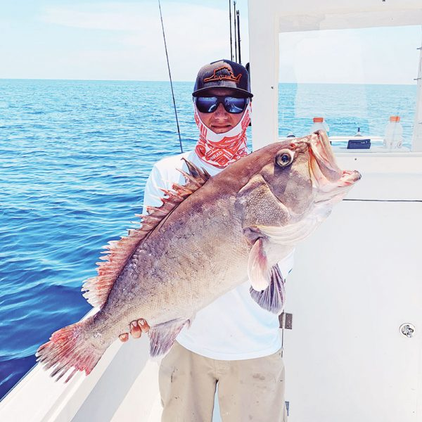 Capt. TJ Ralph of Flatline Sportfishing teamed up with Capt. Vinny Sacks of YB Normal Sportfishing and bagged a stud snowy grouper.