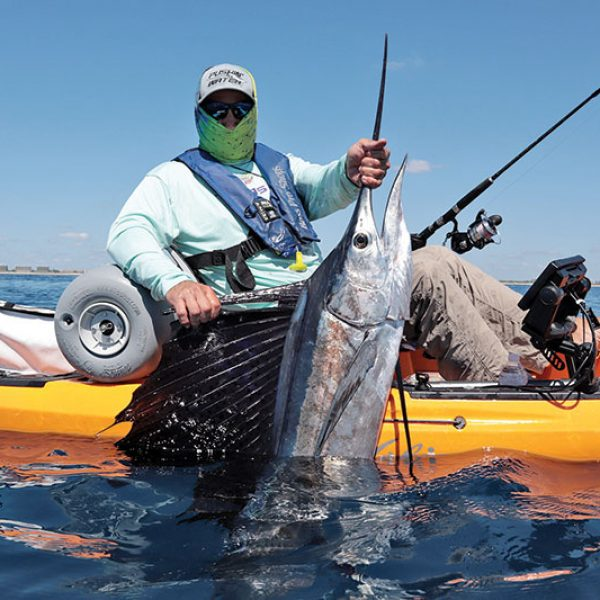 Pablo Suarez caught and released his first sailfish from the kayak.