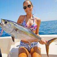 Laura Battye caught this nice blackfin tuna while fishing with Capt. Johnny Stabile.