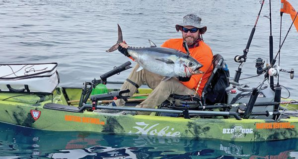 Shaun Roles caught his personal best blackfin tuna by slow pitch jigging.