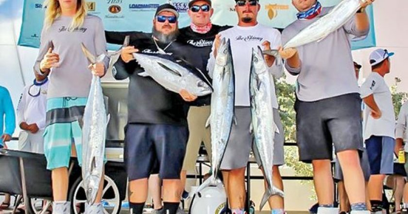 The Skinny Fishing Team with a respectable catch in the Saltwater Shootout.