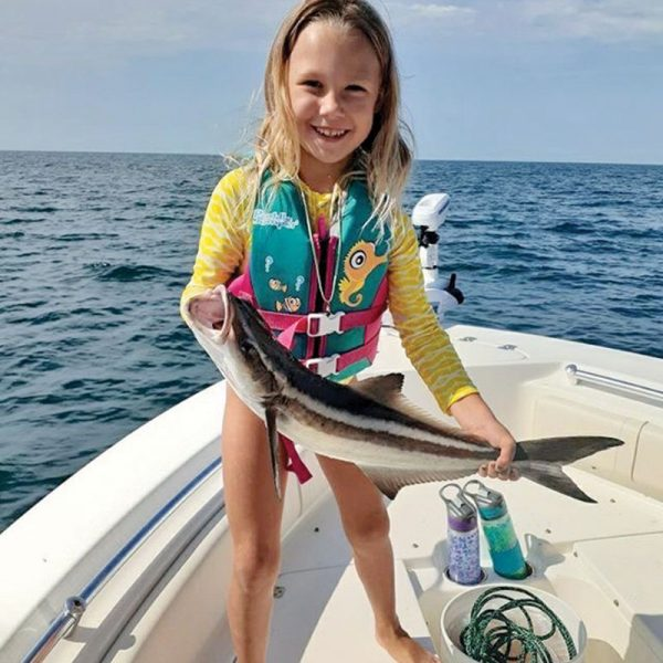 Camille Caravello brought in a nice cobia catch.