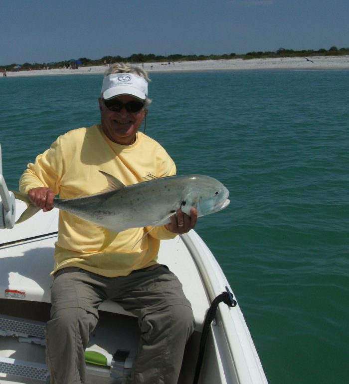 Jack caught by Ed just off the beach | Photo courtesy of Ed Ottenthal