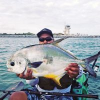 Mike Basnite with a nice permit he caught at Ponce Inlet.
