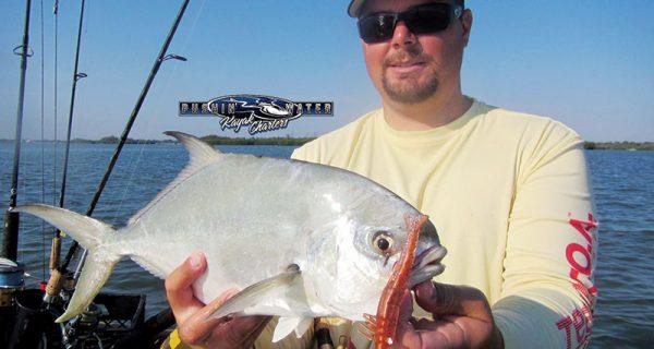 Brian Nelli with a nice pompano on sailfish flats