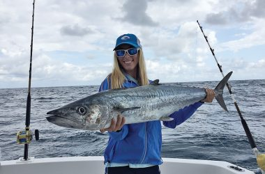 Veronica-Blaze-with-a-huge-kingfish-caught-with-Fishing-Headquarters