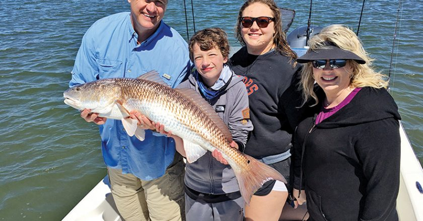 This is the month that anglers can hook some of the biggest redfish of the year in this portion of the lagoon system, like Greg Spurling and his family did.