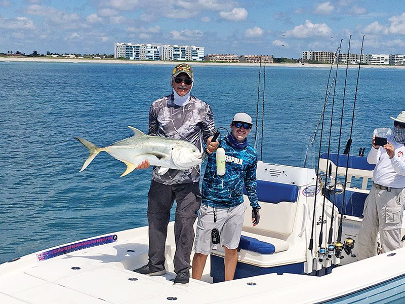 Fineline Fishing Charters' Capt. Justin Ross got this client hooked up with a big jack just south of the Port Canaveral entrance.