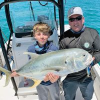 Eric and his boys had a blast catching sharks, jacks and macks with Capt. Glyn Austin of Going Coastal Charters.