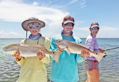 A couple of nice redfish caught by brothers Jack and Nathan.