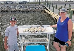 A nice summertime haul with Choctawhatchee Bay Fishing Charters and Capt. Brad Bishop.