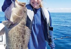 Abby Chappell was grouper digging on the Adrenaline boat.