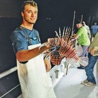 Alex with a nice lionfish.