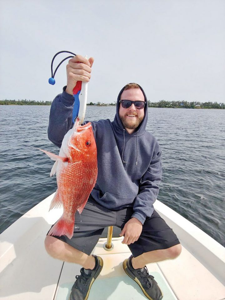 Bay snapper aboard the C-note boat.