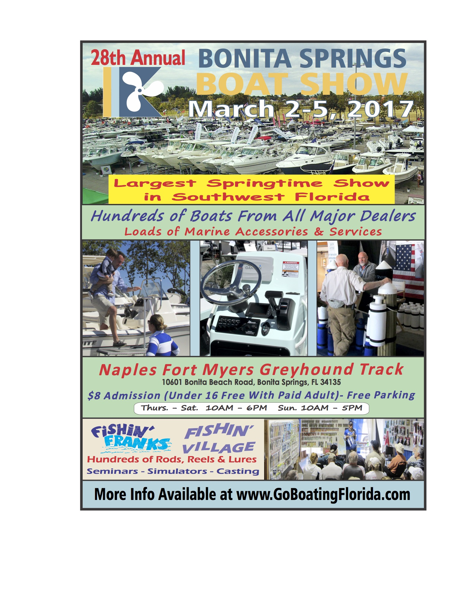 Bonita boat show march 2nd 5th coastal angler the angler magazine march 2nd 5th the 28th annual bonita springs boat show will be held the the naples fort myers greyhound track the show will open each day at 10 am and nvjuhfo Choice Image