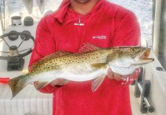 Brett Shumate of PC with a big trout.
