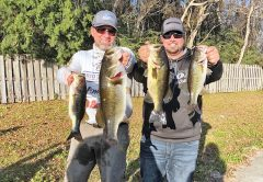 Capt C-note and Kyle Pridgen recently won a Reel Money Tournament Trail event with this 12.48 lb. bag of Deerpoint bass