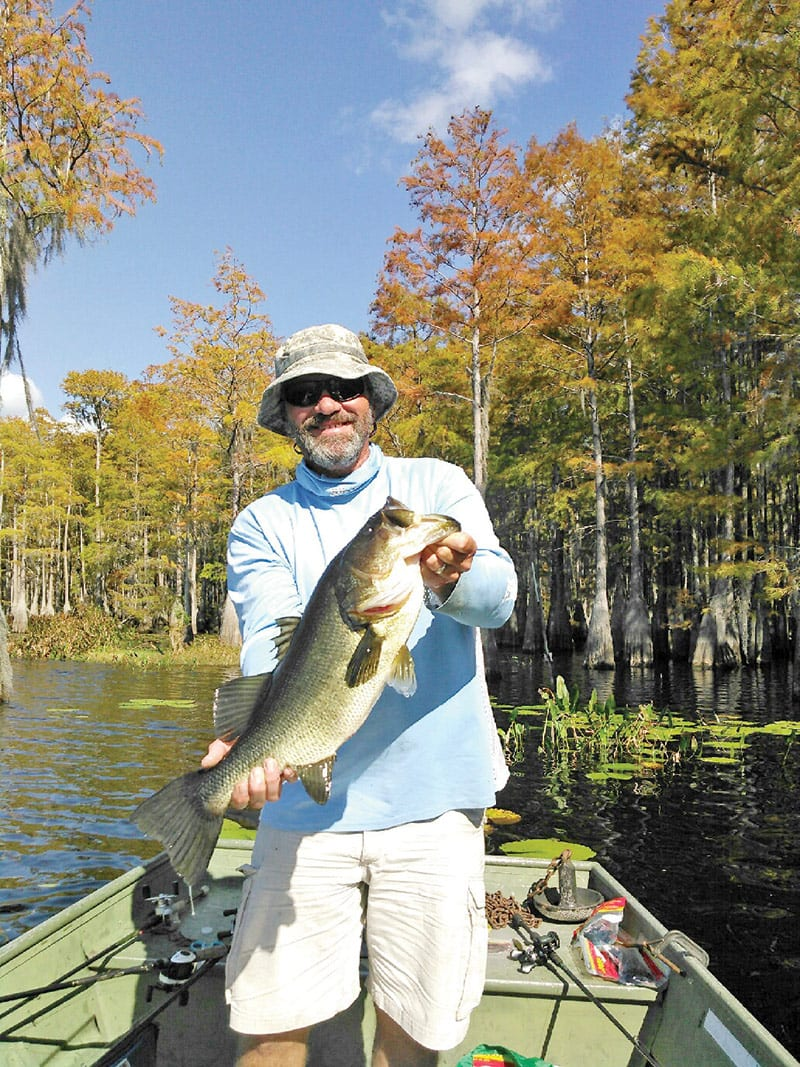 Capt. C-note with a 7 lb. Dry Lake bass.
