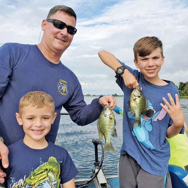 Chuck Foster and sons with some Seminole shellcracker.