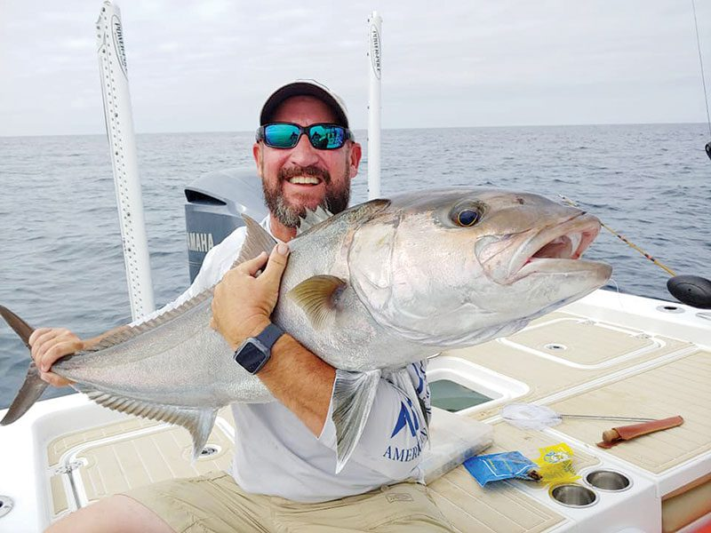 Fred Wilson bagging AJs off of Panama City Beach.