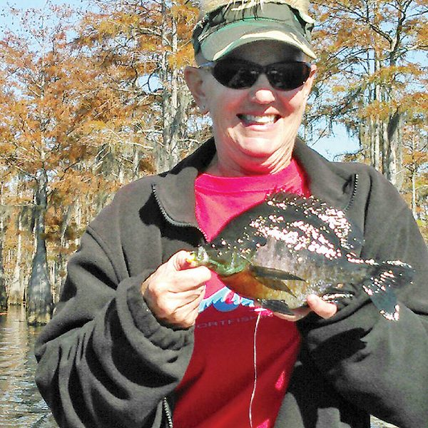 Georgia with a fine bream from the Carter's Tract.