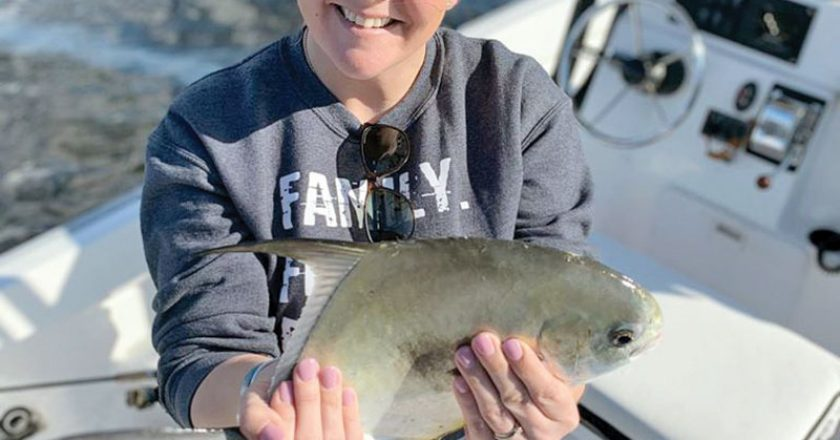 Here's a rare find! A permit caught in our bay with Capt Rosie Reelrosie Charters.