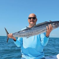 Ed from California Customs with a solid wahoo