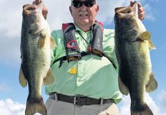 John from Panama City with a nice haul of bass with guide Paul Tyre.