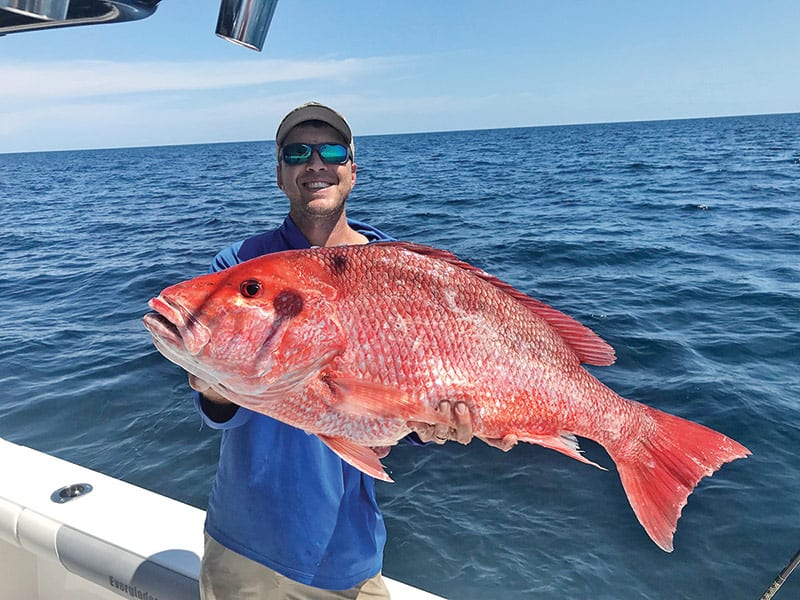 Jon Blue with a stud Panama City snapper.