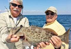 Jon Johnson bagged this gag grouper with Capt. Chester Reese.
