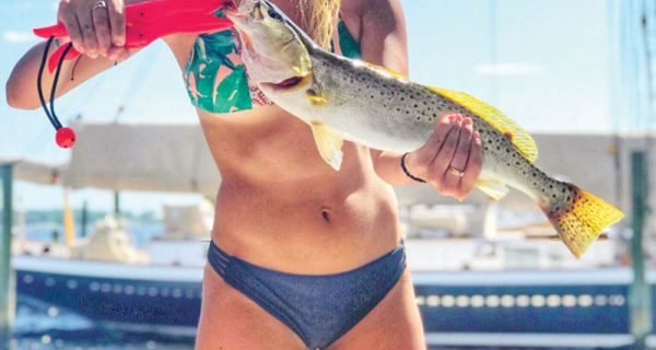 Kinzie Harrington of PC with a nice trout.