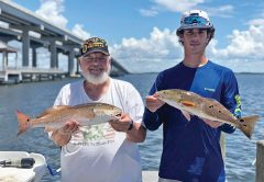 Some nice reds aboard Choctawhatchee Bay Fishing Charters with Capt Brad.