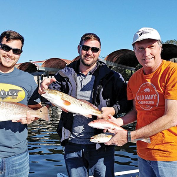 Spencer, Joe & Scott with some good eats from the bay.