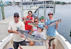 The Lee family from GA with a nice haul. The king weighed 29 lbs. and measured 47 inches.