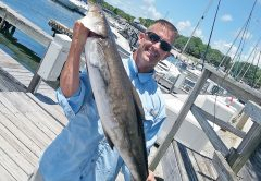 Trey is happy to have this cobia over for dinner.