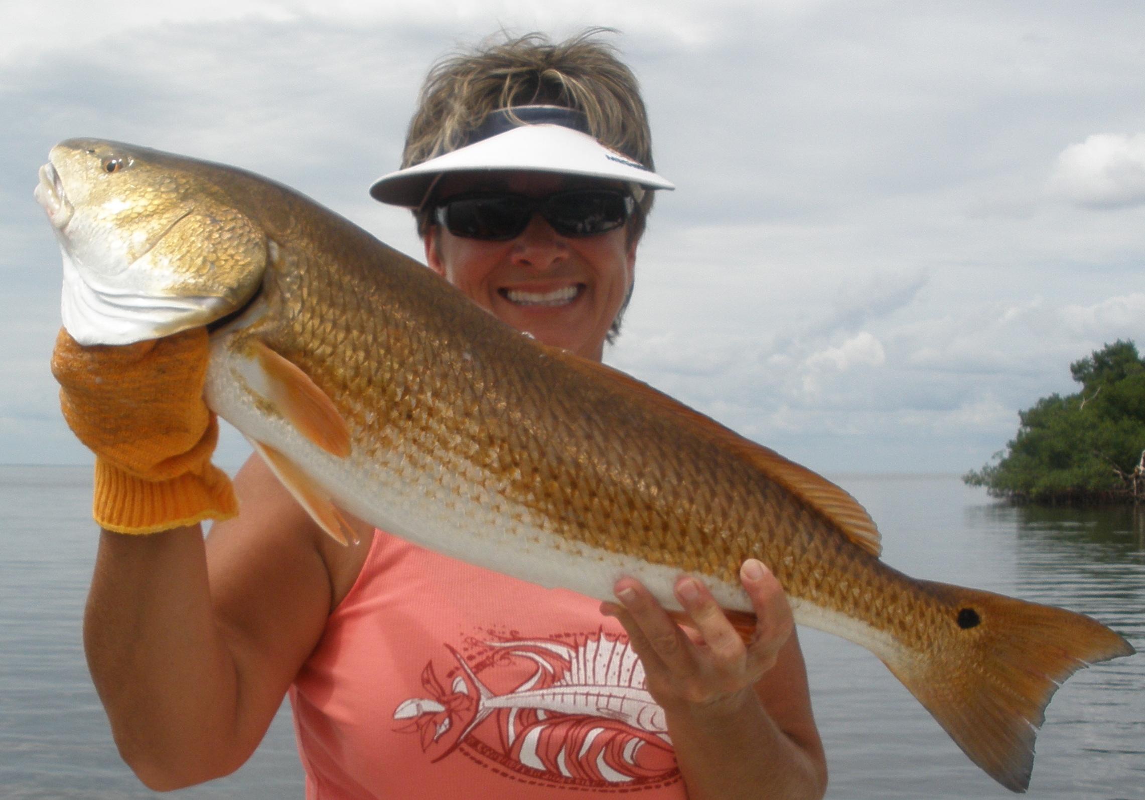 Ladies sw florida fishing by vicki fisher coastal angler for Southwest michigan fishing report