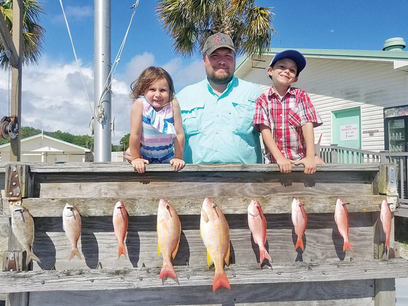 Wesley Jacobs and crew fishing with Capt Tew.