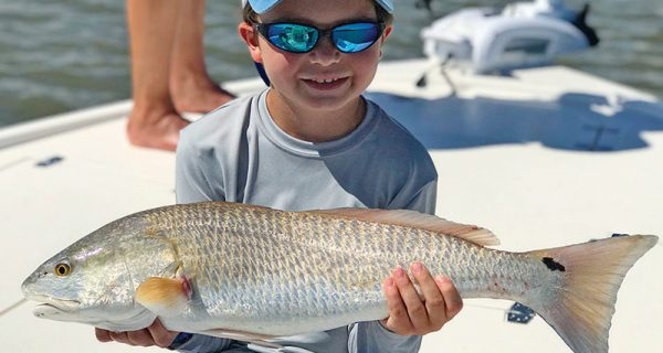 West McNalley from Atlanta pictured here with his biggest redfish ever.