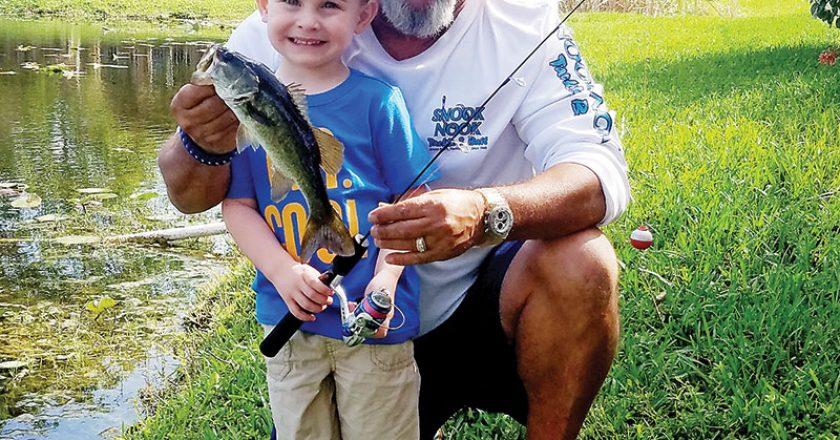 Three-year-old JoJo nabbed his first bass
